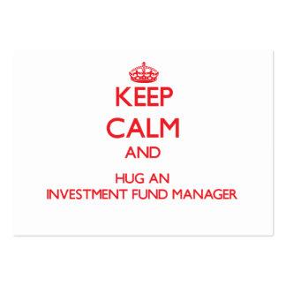 Guarde la calma y abrace a un gestor de fondos de  tarjetas personales