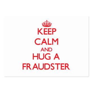 Guarde la calma y abrace a un impostor plantilla de tarjeta de visita