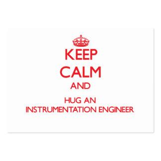 Guarde la calma y abrace a un ingeniero de la inst tarjetas de visita