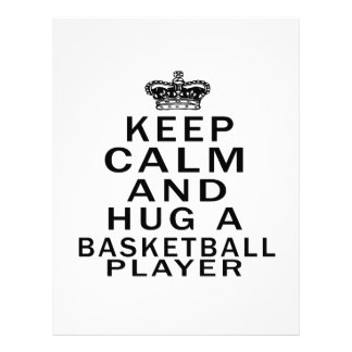 Guarde la calma y abrace a un jugador de básquet membrete personalizado