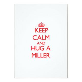 Guarde la calma y abrace a un Miller Invitación Personalizada
