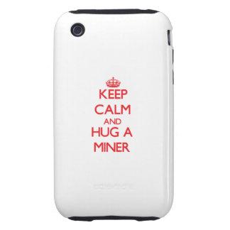 Guarde la calma y abrace a un minero iPhone 3 tough cobertura