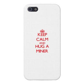 Guarde la calma y abrace a un minero iPhone 5 coberturas