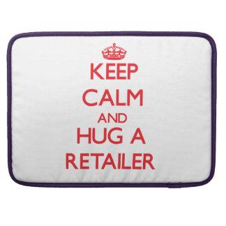 Guarde la calma y abrace a un minorista funda para macbooks