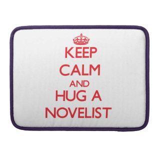Guarde la calma y abrace a un novelista funda para macbook pro