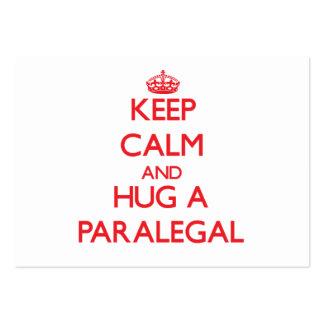 Guarde la calma y abrace a un Paralegal Tarjetas Personales