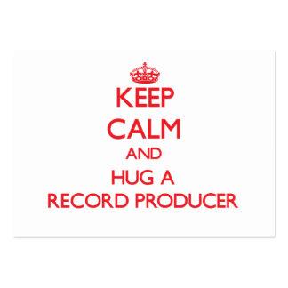Guarde la calma y abrace a un productor de registr tarjeta personal