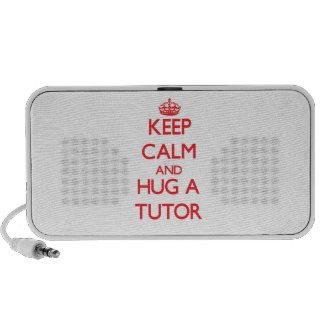 Guarde la calma y abrace a un profesor particular sistema altavoz