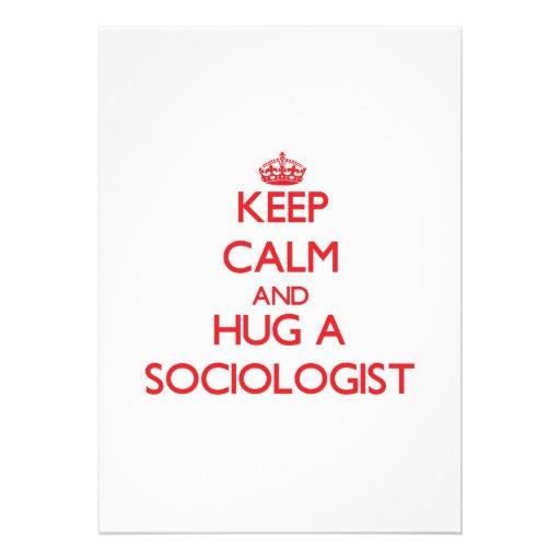 Guarde la calma y abrace a un sociólogo comunicado