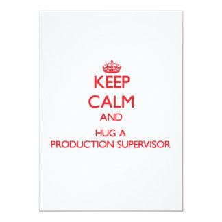 """Guarde la calma y abrace a un supervisor de la invitación 5"""" x 7"""""""