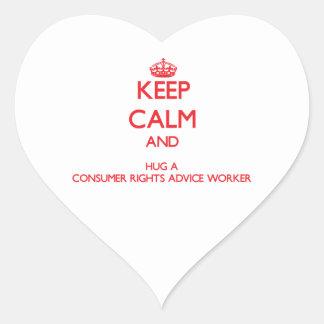 Guarde la calma y abrace a un trabajador del conse colcomanias corazon