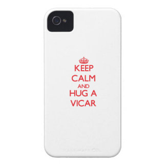 Guarde la calma y abrace a un vicario iPhone 4 Case-Mate cobertura
