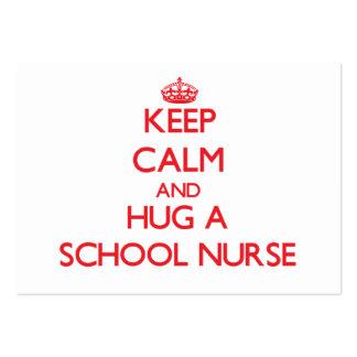 Guarde la calma y abrace a una enfermera de la esc tarjeta de visita