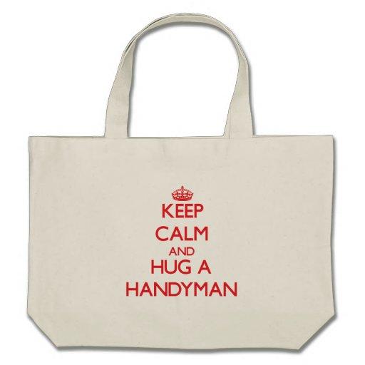 Guarde la calma y abrace a una manitas bolsas