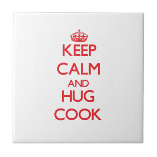 Guarde la calma y abrace al cocinero tejas  ceramicas