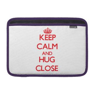 Guarde la calma y abrace cerca funda para macbook air