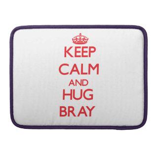Guarde la calma y abrace el rebuzno fundas para macbooks