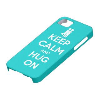Guarde la calma y abrace encendido - la caja impre iPhone 5 Case-Mate funda