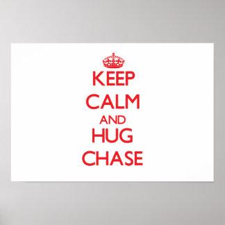 Guarde la calma y abrace la caza posters