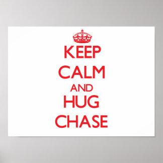 Guarde la calma y abrace la caza poster