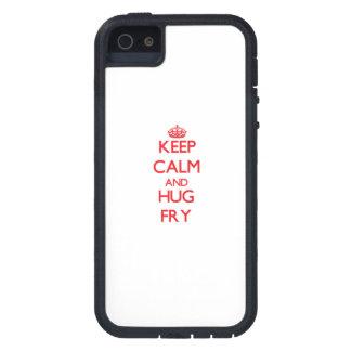 Guarde la calma y abrace la fritada iPhone 5 fundas