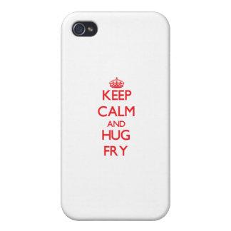 Guarde la calma y abrace la fritada iPhone 4/4S carcasas