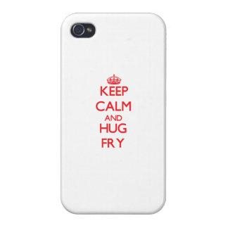 Guarde la calma y abrace la fritada iPhone 4 protector