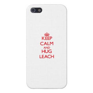 Guarde la calma y abrace la lixiviación iPhone 5 carcasas