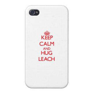 Guarde la calma y abrace la lixiviación iPhone 4/4S carcasas
