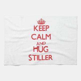 Guarde la calma y abrace más inmóvil toallas de mano