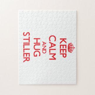 Guarde la calma y abrace más inmóvil puzzle