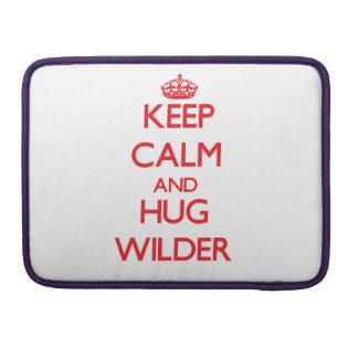 Guarde la calma y abrace más salvaje funda para macbooks