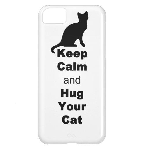 Guarde la calma y abrace su gato
