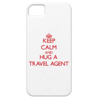 Guarde la calma y abrace un agente de viajes iPhone 5 cárcasa