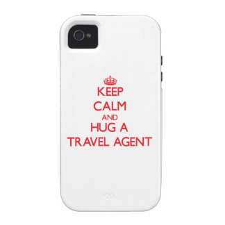 Guarde la calma y abrace un agente de viajes iPhone 4/4S funda
