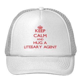 Guarde la calma y abrace un agente literario gorros