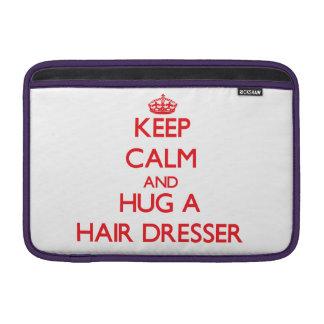 Guarde la calma y abrace un aparador del pelo fundas MacBook