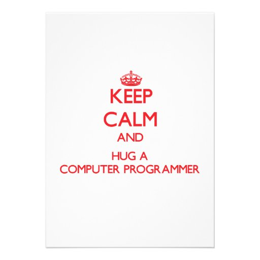 Guarde la calma y abrace un informático anuncios personalizados