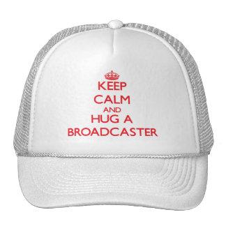 Guarde la calma y abrace un locutor gorra