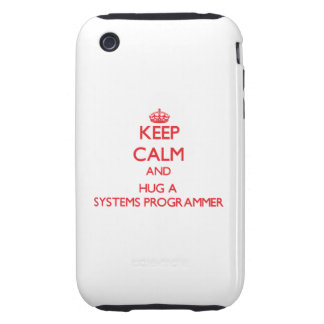 Guarde la calma y abrace un programador tough iPhone 3 coberturas