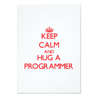 Guarde la calma y abrace un programador invitacion personal