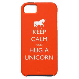 Guarde la calma y abrace un unicornio funda para iPhone SE/5/5s