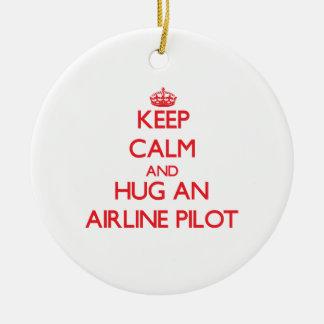 Guarde la calma y abrace una línea aérea ornatos