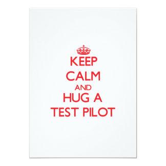 Guarde la calma y abrace una prueba comunicados personales