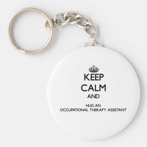 Guarde la calma y abrace una terapia profesional A Llavero