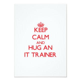 """Guarde la calma y abrácela instructor invitación 5"""" x 7"""""""