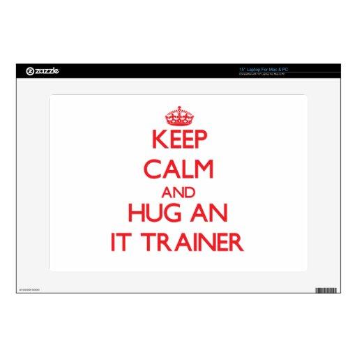 Guarde la calma y abrácela instructor calcomanía para 38,1cm portátil