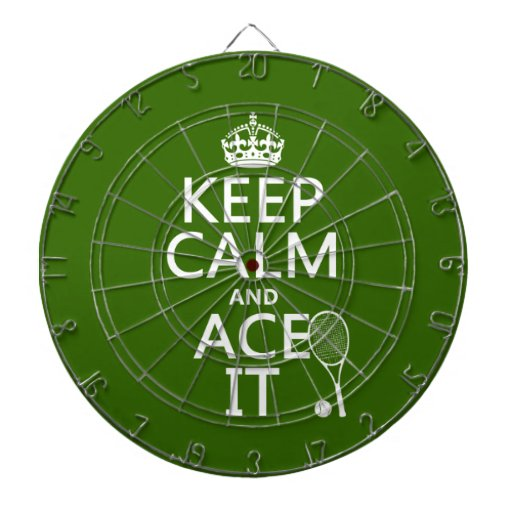 Guarde la calma y Ace la (el tenis) (en cualquier