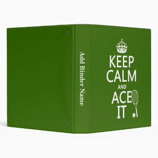 """Guarde la calma y Ace la (el tenis) (en cualquier Carpeta 1"""""""