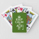 Guarde la calma y Ace la (el tenis) (en cualquier  Barajas